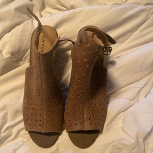 Lucky Brand Wedge Open Toe Shoes